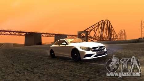 Mercedes-Benz S63 Coupe para GTA San Andreas vista posterior izquierda