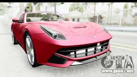Ferrari F12 Berlinetta 2014 para visión interna GTA San Andreas