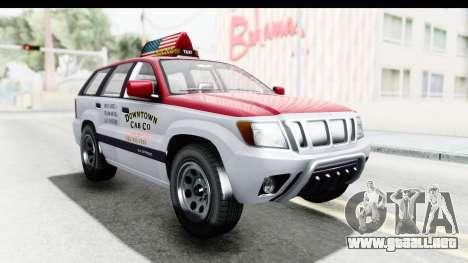 GTA 5 Canis Seminole Downtown Cab Co. Taxi para la visión correcta GTA San Andreas
