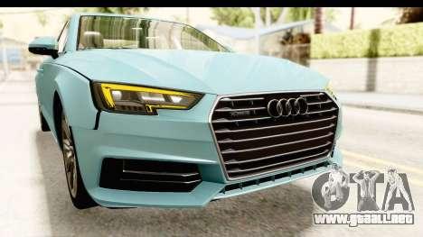 Audi A4 TFSI Quattro 2017 para la vista superior GTA San Andreas