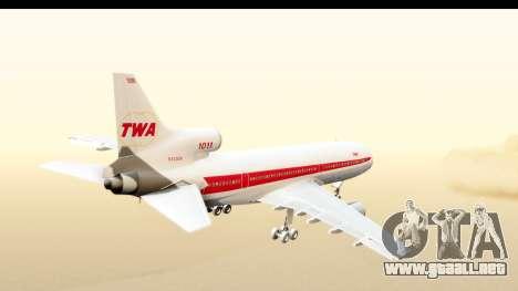 Lockheed L-1011-100 TriStar Trans World Airlines para la visión correcta GTA San Andreas