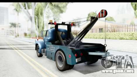 Mack B-61 1953 Towtruck v2 IVF para GTA San Andreas left