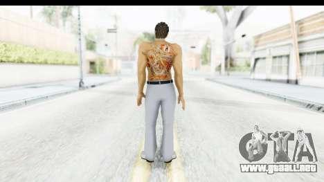 Yakuza 5 Kazuma Kiryu Topless Tatoo para GTA San Andreas tercera pantalla