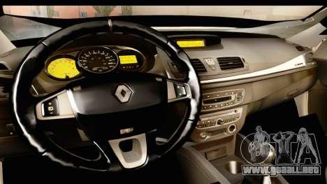 Renault Fluence v2 para visión interna GTA San Andreas