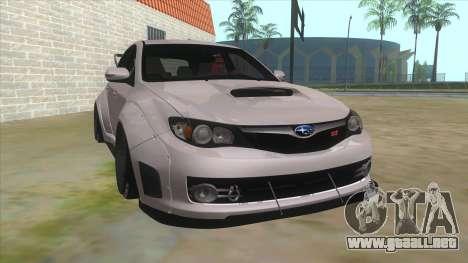 2008 Subaru WRX Widebody L3D para GTA San Andreas vista hacia atrás