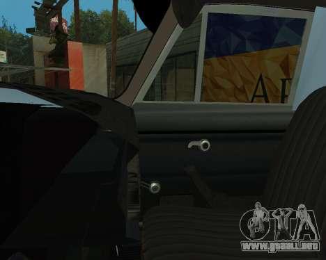 Moskvich 2715 De Armenia para GTA San Andreas interior