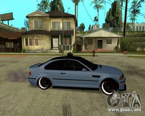 BMW M3 Armenian para GTA San Andreas vista posterior izquierda