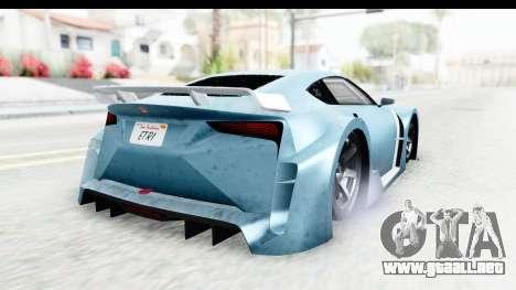 GTA 5 Emperor ETR1 v2 IVF para GTA San Andreas vista posterior izquierda