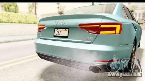 Audi A4 TFSI Quattro 2017 para GTA San Andreas interior