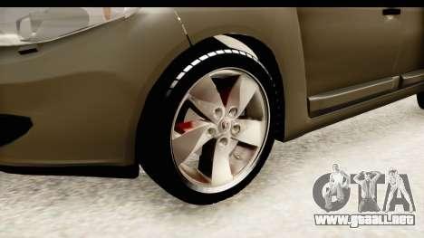 Renault Fluence v2 para GTA San Andreas vista hacia atrás