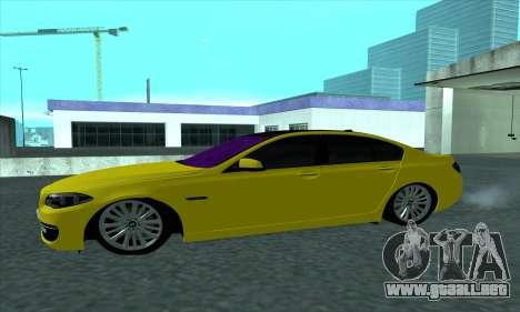 BMW 525 Gold para GTA San Andreas left