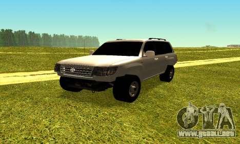 Toyota Land Cruiser 105V para la visión correcta GTA San Andreas