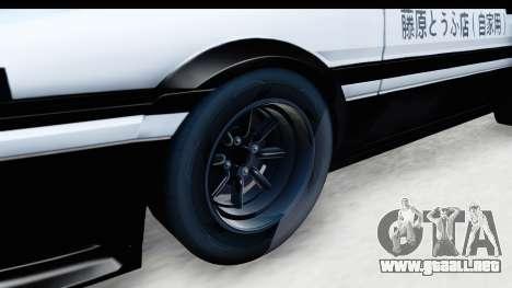 NFS 2015 Toyota AE86 para GTA San Andreas vista hacia atrás