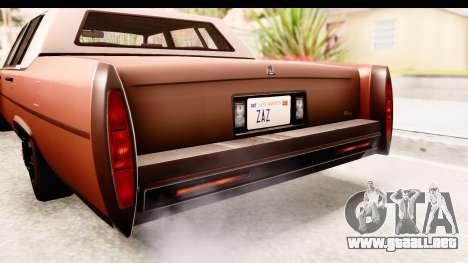 GTA 5 Albany Emperor SA Style para visión interna GTA San Andreas