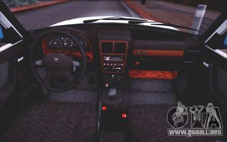 GAZ 3110 Calidad del agua de Escorrentía para la vista superior GTA San Andreas