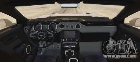 GTA 5 Ford Mustang GT Premium HPE750 Boss vista lateral izquierda trasera