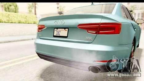 Audi A4 TFSI Quattro 2017 para vista inferior GTA San Andreas