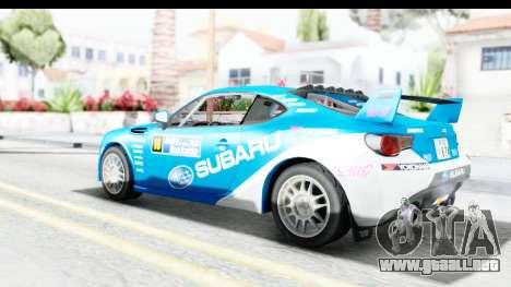 Subaru BRZ Rally para GTA San Andreas left