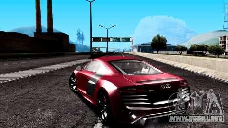 Audi R8 5.2 FSI Quattro 2010 para GTA San Andreas left
