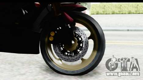 Yamaha YZF-R6 2008 para GTA San Andreas vista hacia atrás