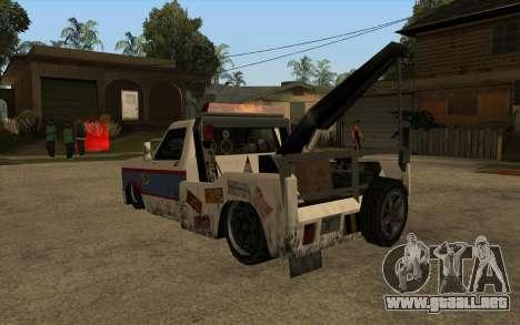 Nuevo remolque para GTA San Andreas vista posterior izquierda