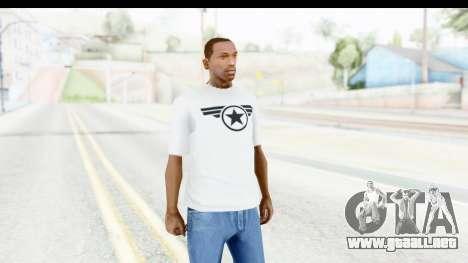 Captain America White T-Shirt para GTA San Andreas segunda pantalla