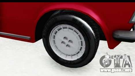 Zastava 125PZ Roadster Coupe para GTA San Andreas vista hacia atrás