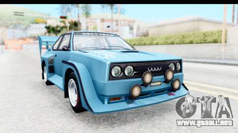 GTA 5 Obey Omnis para GTA San Andreas vista posterior izquierda