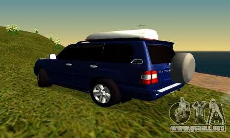Toyota Land Cruiser 100vx2 para la visión correcta GTA San Andreas