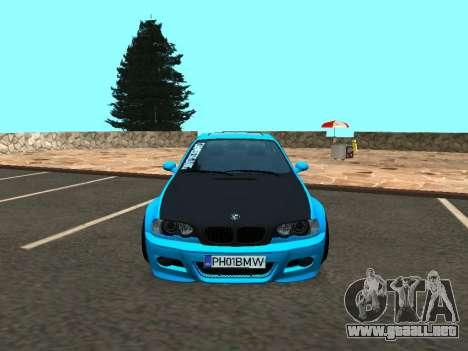 BMW M3 E46 Postura para GTA San Andreas vista hacia atrás