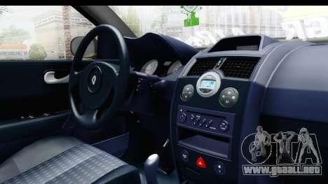 Renault Megane para visión interna GTA San Andreas