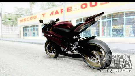 Yamaha YZF-R6 2008 para GTA San Andreas left