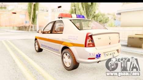 Dacia Logan Facelift Ambulanta v2 para GTA San Andreas left