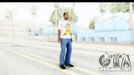 T-Shirt Pokemon Go Pikachu para GTA San Andreas tercera pantalla