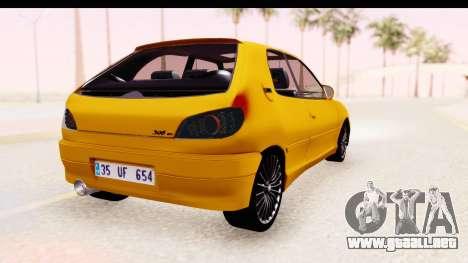 Peugeot 306 GTI para GTA San Andreas left