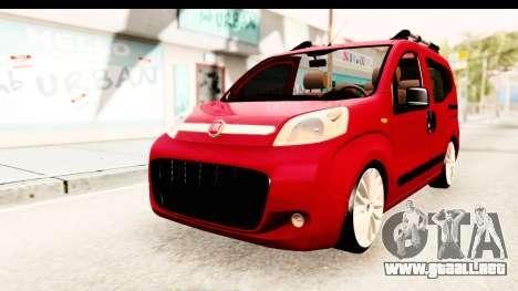 Fiat Fiorino v2 para la visión correcta GTA San Andreas