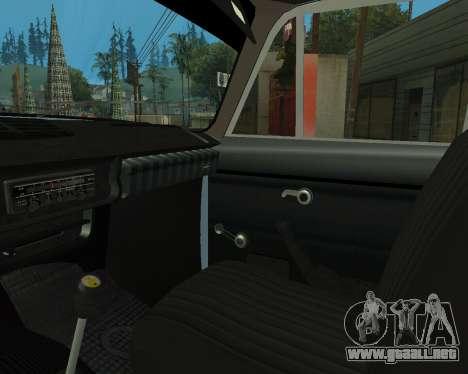 Moskvich 2715 De Armenia para vista inferior GTA San Andreas
