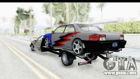 Limousine Auto Transporter para GTA San Andreas vista posterior izquierda