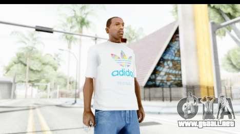 Adidas White T-Shirt para GTA San Andreas
