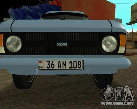 Moskvich 2715 De Armenia para la visión correcta GTA San Andreas
