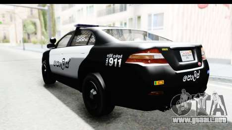 Sri Lanka Police Car v1 para GTA San Andreas left
