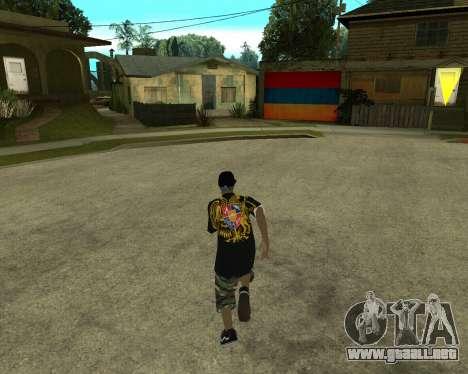 New Armenian Skin para GTA San Andreas tercera pantalla