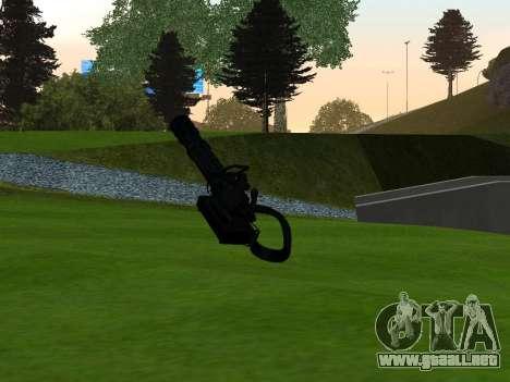 M134 MINIGUN BLACK para GTA San Andreas segunda pantalla
