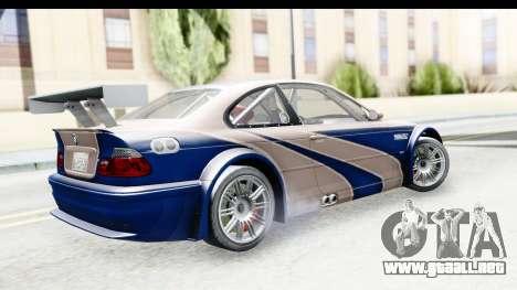 NFS Carbon - BMW M3 GTR para GTA San Andreas left
