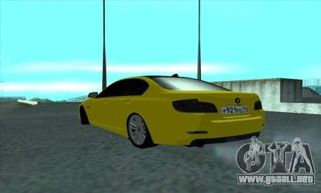 BMW 525 Gold para GTA San Andreas vista posterior izquierda