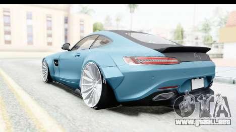 Mercedes-Benz AMG GT Prior Design para GTA San Andreas vista posterior izquierda