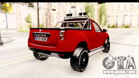 Dacia Duster Pickup para GTA San Andreas vista posterior izquierda