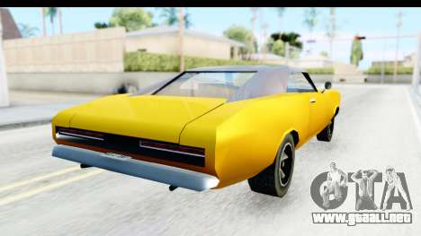 Imponte Dukes 1971 para GTA San Andreas vista posterior izquierda