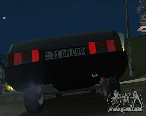 Vaz 21099 ARMNEIAN para GTA San Andreas vista hacia atrás