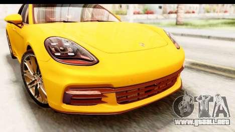 Porsche Panamera 4S 2017 v3 para visión interna GTA San Andreas